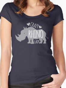 Crazy Rhino Lady Women's Fitted Scoop T-Shirt
