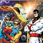 Space Ghost,  Jan, Jace and Blip the monkey by Al Rio and Thomas Mason by alrioart