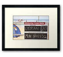 Merewether Baths - Utopian Conditions Framed Print