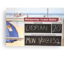 Merewether Baths - Utopian Conditions Canvas Print