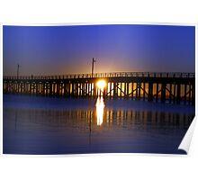 Purple Ocean Sunrise Poster