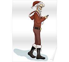 Hipster Santa Poster