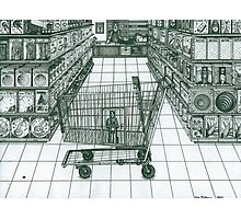 Shop and Slave Photographic Print