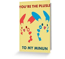 Plusle & Minun Greeting Card