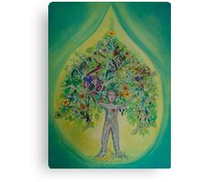 The Everything Tree Oil Drop Canvas Print