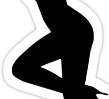 High Heel Woman Silhouette Sticker
