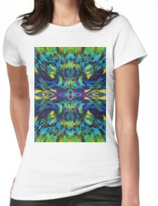 Virtual Psychedelic Space Womens Fitted T-Shirt