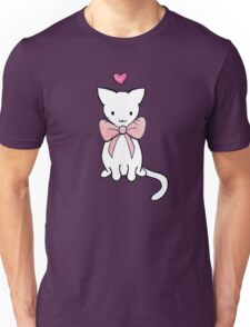 Kitten with Pink Bow Unisex T-Shirt