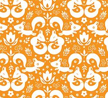 Cute ornamental foxes pattern by oksancia