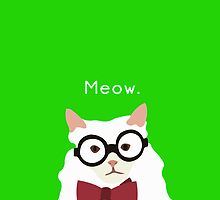 P. Alderman the White Cat in Green by awcheung2
