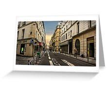 Parisian Streets Greeting Card
