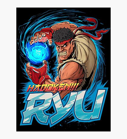 Ryu – Hadoken! Photographic Print