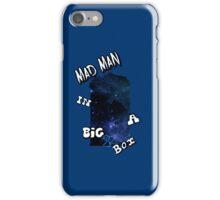Mad Man In A Big Blue Box iPhone Case/Skin