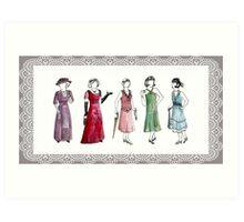 Downton Inspired Fashion Art Print