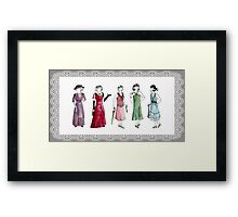 Downton Inspired Fashion Framed Print