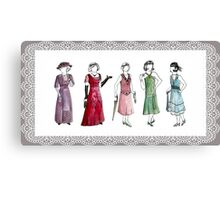 Downton Inspired Fashion Canvas Print
