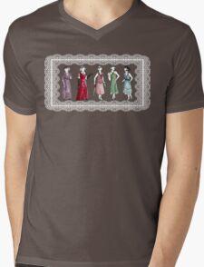 Downton Inspired Fashion Mens V-Neck T-Shirt