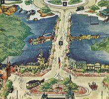 Vintage National Geographic Disneyland Map Sticker
