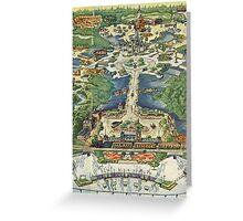Vintage National Geographic Disneyland Map Greeting Card