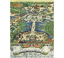 Vintage National Geographic Disneyland Map Photographic Print