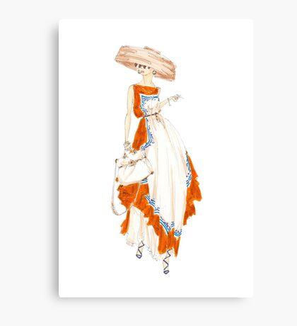 Paris Summer Dress Fashion Art Canvas Print