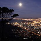 Full Moon from Lions Head by Mark Braham