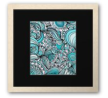 Crystal Colors abstract Framed Print