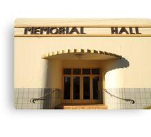 Art Deco Memorial Hall, Lockhart Canvas Print