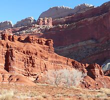 High wall and Red Cliffs by BrianAShaw