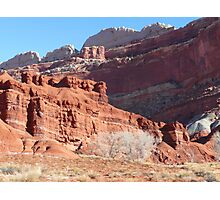 High wall and Red Cliffs Photographic Print