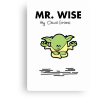 Mr Wise Canvas Print