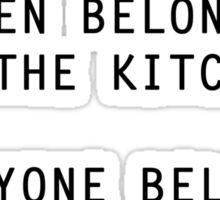 Unsexist Kitchen T-Shirt Sticker