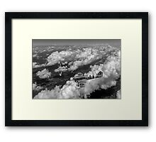 D-Day Hawker Typhoons diving black and white version Framed Print