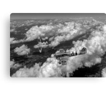 D-Day Hawker Typhoons diving black and white version Canvas Print