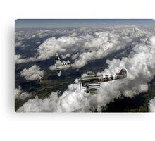 D-Day Hawker Typhoons diving Canvas Print