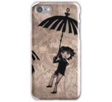 Baudelaire Umbrellas iPhone Case/Skin