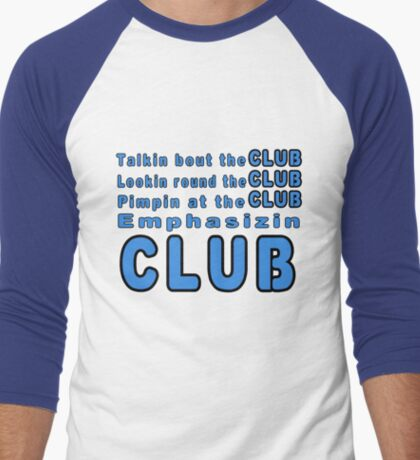 Da Club Men's Baseball ¾ T-Shirt