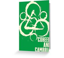 coheed and cambria color before the sun Tour 2016 RP05 Greeting Card