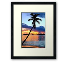 Island Harbor Twilight  Framed Print