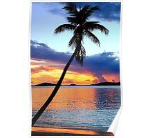 Island Harbor Twilight  Poster