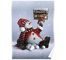 Xmas-Snowman Poster