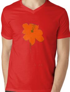 orange flower Mens V-Neck T-Shirt