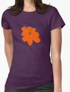orange flower Womens Fitted T-Shirt