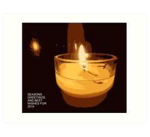 Christmas Candle Art Print