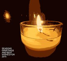 Christmas Candle by Fara
