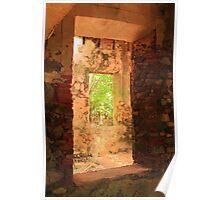 Windows through a Stone Mill Poster
