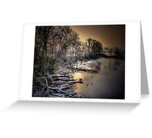 Snow and Ice on the Big Muddy Greeting Card