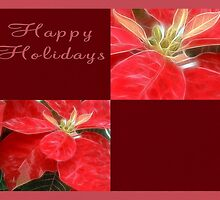 Mottled Red Poinsettia 1 Ephemeral Happy Holidays Q10F1 by Christopher Johnson