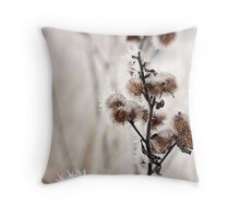 Frost Burrs Throw Pillow