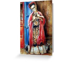 Day of the Dead 'Frida with Doves' by Heather Calderon Greeting Card